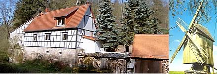 Stahrmühle in Wallroda - Bockwindmühle bei Tauhardt