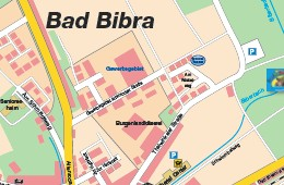 Stadtplan Bad Bibra -
